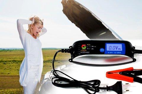 Automata akkumulátor töltő LCD kijelzővel