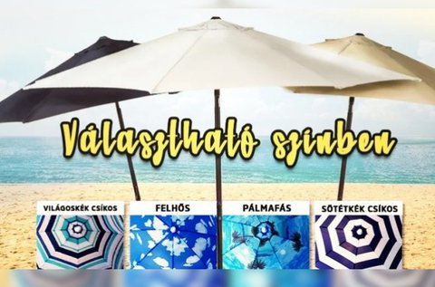 Praktikus napernyő vidám nyári mintákkal