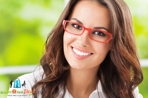 Szemüveg készítése divatos kerettel, lencsével