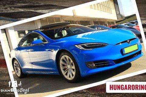 Tesla Model S P100D vezetés a Hungaroringen