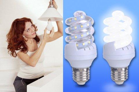 LED spirál fényforrás E27-es foglalattal