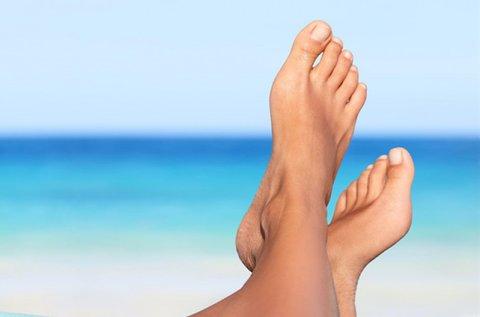 Választható pedikűr kezelés az ápolt lábakért
