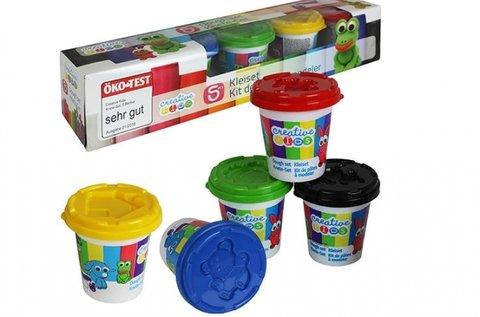 Kreativitást fejlesztő gyurma szett 5 féle színnel