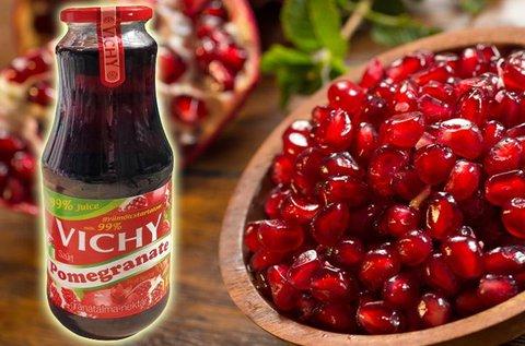 12 üveg 99%-os Vichy gránátalma nektár