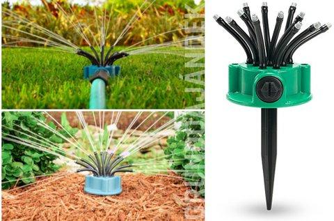 Földbe szúrható kerti öntözőberendezés