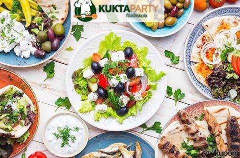 Görögbe kóstolva főzőkurzus 1 főnek