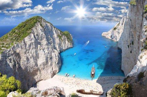 1 hét nyaralás Zakynthos kristálytiszta tengerpartján