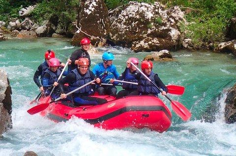 Vadvízi rafting a Soca-folyón 1 fő részére