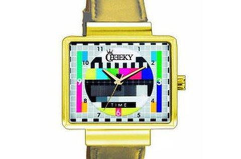 Cheeky TV unisex karóra arany színben