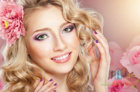 13 lépéses luxus arckezelés + géllak kézre vagy lábra