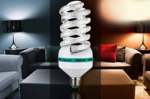 4 db energiatakarékos, 7 W-os spirál LED izzó