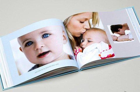 Egyedi, 50 oldalas keménytáblás fotókönyv