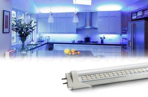 120 cm-es, 18 W-os dupla soros LED fénycső