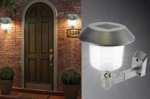 Napelemes fali LED lámpa