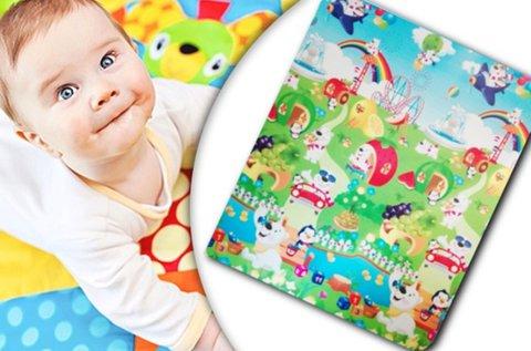 150x180 cm-es színes játszószőnyeg gyerekeknek