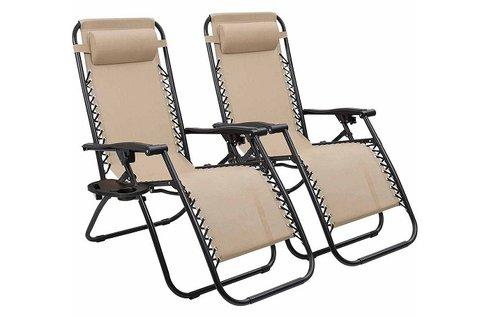 2 db zéró gravitáció kerti szék pohártartóval