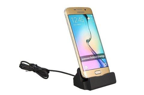 Micro USB-s asztali töltő fekete vagy ezüst színben
