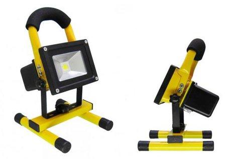 Hordozható, akkumulátoros LED reflektor