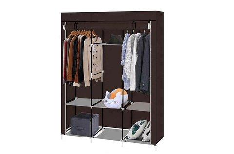 Mobil ruhásszekrény cipzározható ajtókkal