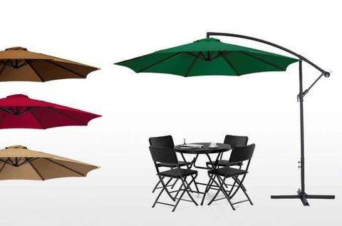 Függő napernyő stabil vázzal, több színben