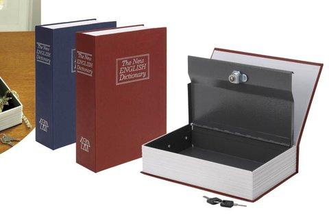Könyv alakú, valósághű biztonsági doboz