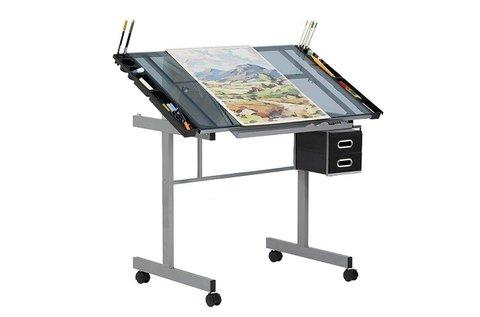 Dönthető tervezőasztal 2 db fiókkal