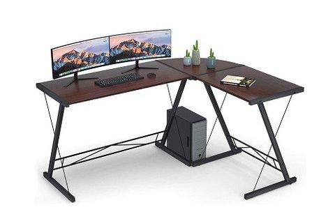 L alakú íróasztal görgős billentyűzettartóval