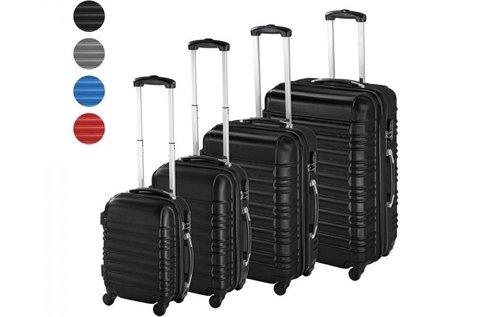 4 db különböző méretű merev falú bőrönd