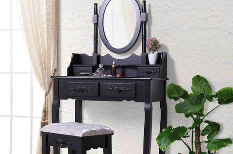 Tükrös fésülködőasztal székkel, több színben