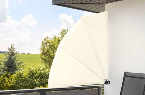Legyező alakú árnyékoló erkélyre szél és nap ellen