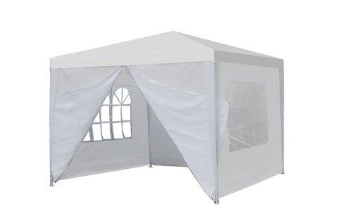 Party sátor fehér színben, 3 különböző méretben