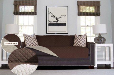 Mindkét oldalán használható kanapévédő takaró