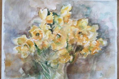 Virágfestő workshop akvarellel 2x6 órában