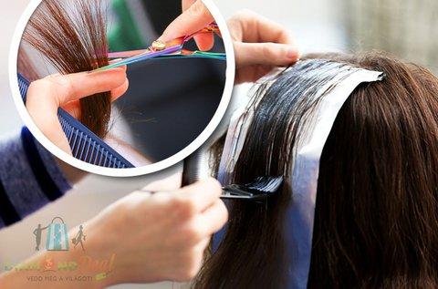 Melír és vágás rövid hajra, regeneráló hajpakolással