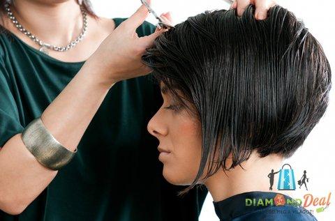 Új női frizura festéssel, vágással és szárítással