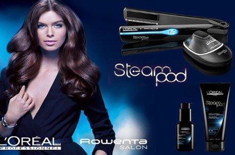 L'Oréal SteamPod hajújraépítés hajformázással
