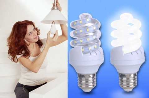 LED spirál fényforrás 4 db-os csomagban
