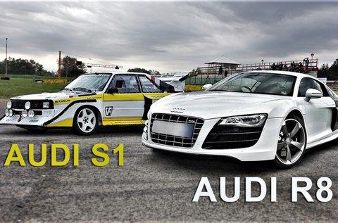 3-3 körös Audi R8 és Audi S1 élményvezetés