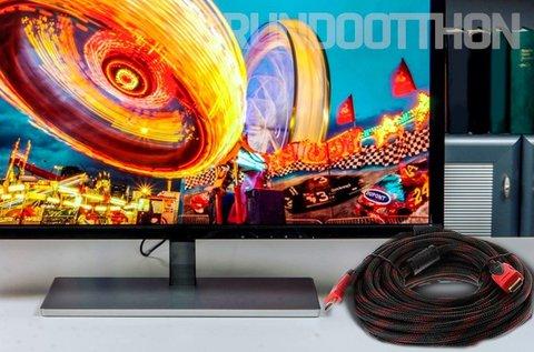 10 m-es HDMI kábel aranyozott csatalkozókkal