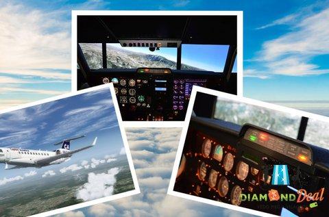 1 órás szimulátoros repülőgép élményvezetés