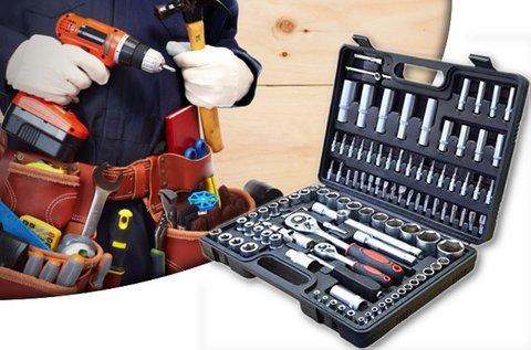 MaxTools 108 részes racsnis dugókulcs készlet