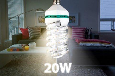 20 W-os spirál LED izzók 4 db-os csomagban