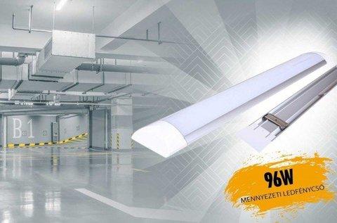 Mennyezeti LED fénycső 96 W-os teljesítménnyel