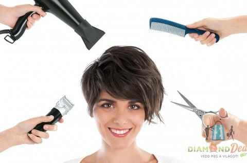 Férfi vagy női hajvágás pakolással, fejmasszázzsal