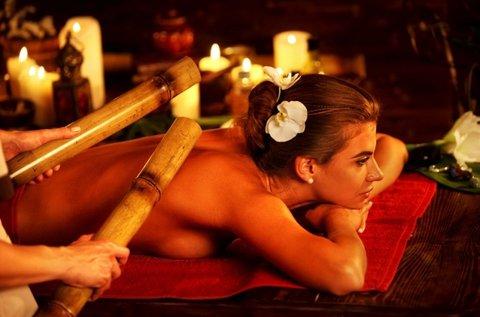 Egész testes tradicionális bambuszos masszázs
