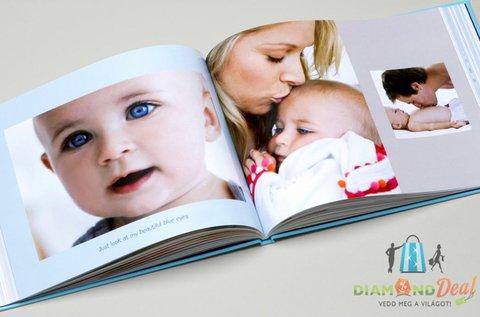 Keménytáblás fotókönyv 46 szerkeszthető oldallal