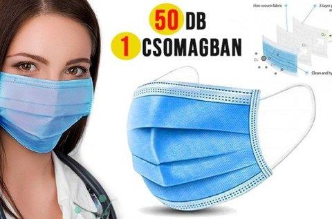 3 rétegű szájmaszk 50 db-os csomagban