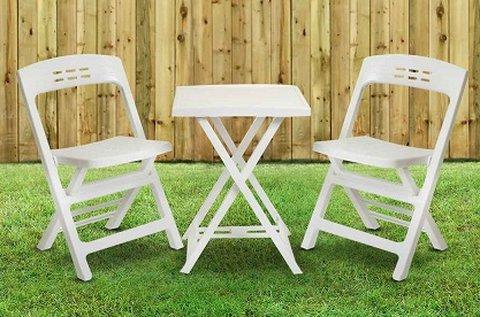 Minőségi olasz kerti bútor szett fehér színben