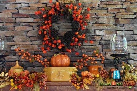 Kézműves foglalkozás őszi dekoráció készítésével