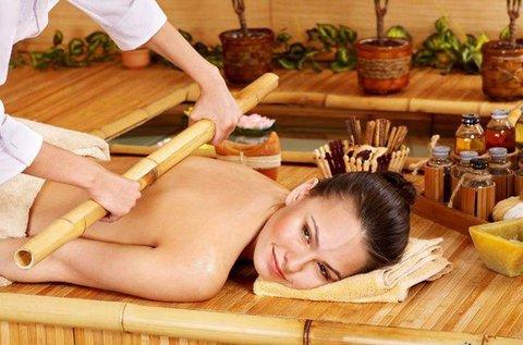 120 perc egzotikus masszázs bambusz rúddal